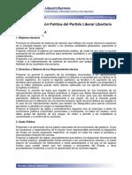 Accion Politica Del Partido Liberal Libertario de Argentina.