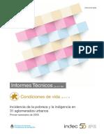 Pobreza e Indigencia - Quinto Informe