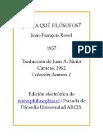 Revel, Jean Francois. Para Que Filosofos.