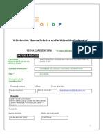 Ficha Experiencia Pc Montúfar para OIDP de Abril del 2010 con la que se reconoce a nuestra Experiencia