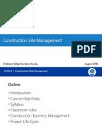 CV2016 Construction Site Management Parte 1