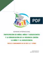 Sistematización del Seminario Internacional Participación de NNA y erradicación de la violencia
