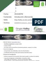20141007M HA Introducción y Bienvenida