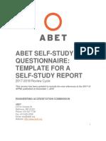 Self-Study-Questionnaire