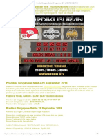 Prediksi Singapore Sabtu 29 September 2018