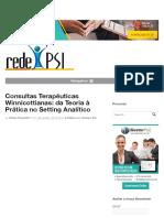 Consultas Terapêuticas Winnicottianas