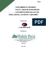 03. EVAP Lineas de Interconexion San Luis San Isidro Luis Neyra y Limatambo