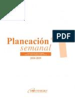 Planeacion Semanal 1 2018 Editable