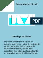 Paradoja Hidrostática de Stevin