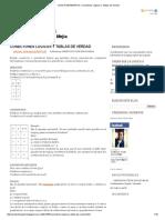 LOGICA MATEMATICA_ Conectores Logicos y Tablas de Verdad