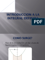 Introduccion a La Integral Definida t