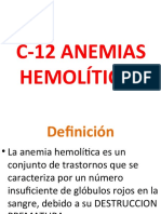 C-12 Anemias hemolíticas