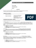 Formato Cv-bolsa de Trabajo