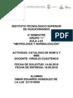 CATALOGO DE NORMAS NOM Y NMX.docx
