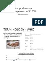 01. Dr Rina - Comprehensive Management of ELBW
