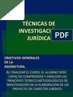 Tecnicas de Investigacion Juridica