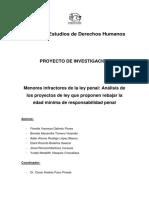 MENORES INFRACTORES DE LA LEY PENAL - ANÁLISIS DE LOS PROYECTOS DE LEY QUE PROPONEN REBAJAR LA EDAD MÍNIMA DE RESPONSABILIDAD PENAL.docx
