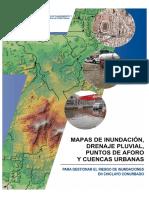 Mapas de Inundaciones, drenaje pluvial, puntos de aforo y cuencas urbanas - Lambayeque