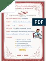 """""""Instrumentos Financieros Más Utilizados en Empresas Industriales de Chimbote, 2014"""""""