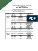 Jadual Ujian Mac 2018