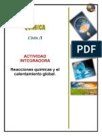 Actividad Integradora 1 Quimica 2
