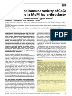 Molecular and Immune Toxicity of CoCr Nanoparticles in MoM Hip Arthroplasty