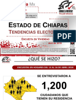 Tendencias Electorales Chiapas Abril 18