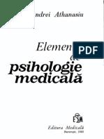 Athanasiu a - Elemente de Psihologie Medicala
