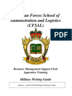 Cf Military Writing Guide