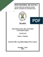 Silabos Metodologia Del Estudio 2018-Ok