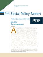 Cabrera (2013) Positive Development of Minority Children
