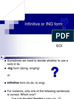 Infinitive and Gerund (to - Ing)
