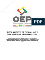 Reglamento Oficialias Oficiales Registro Civil