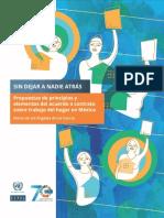 Propuestas de principios y elementos del acuerdo o contrato sobre trabajo del hogar en México