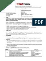 Syllabus UAP - Comercio Internacional 2018-II