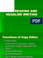 1 Copyreading and Headline Writing