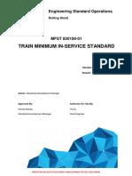 L1 CHE STD 003 Train Minimum in Service Standard