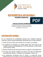 Distribuciones N, Chi-cuadrado, t y F