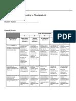 year 8 assessment sheet