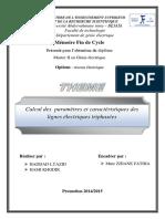 Calcul Des Paramètres Et Caractéristiques Des Lignes Électriques Triphasées.