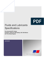 Fuel and Lube Specification