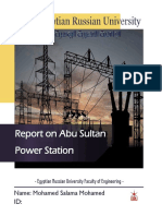 Report on Abu Sultan Power Station