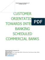 Customer Orientation Towards Internet Banking Scheduled Commercial Banks [www.writekraft.com]