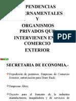 Dependencias  Gubernamentales y  Organismos Privados que  Intervienen en el Comercio  Exterior 2007