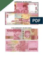 Uang Lembar Rp 100000