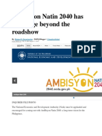 AmBisyon Natin 2040 Has to Engage Beyond the Roadshow