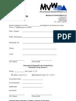Beitrittserklärung Trägerverein