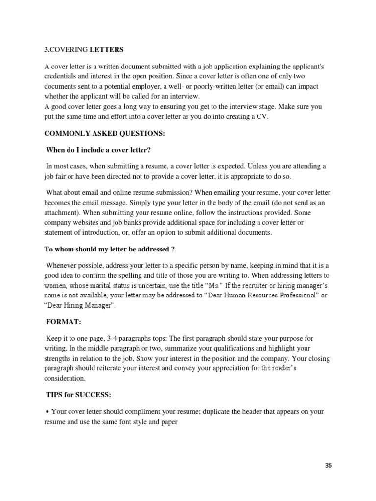 Covering Letter Updated Resume Advertising