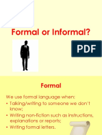 Formal or Informal Ppt