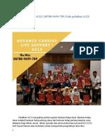Jadwal pelatihan ACLS | 08788-9699-789 | Registrasi Pelatihan ACLS
